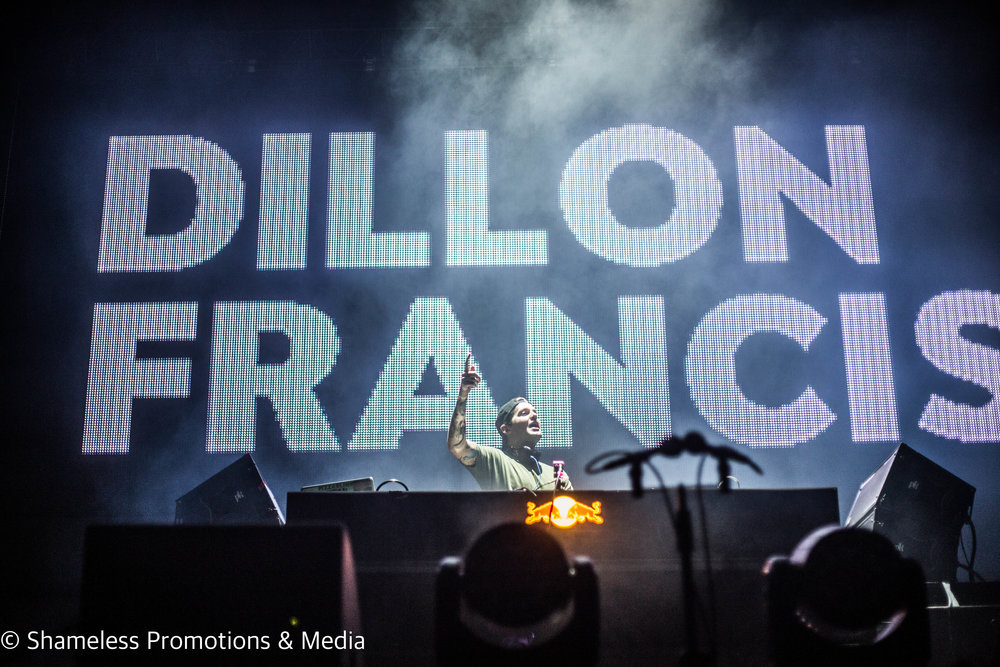 Dillon Francis performing in Berkeley, CA at the Mad Decent Block Party. September 2016. Photo Credit: Jared Stossel