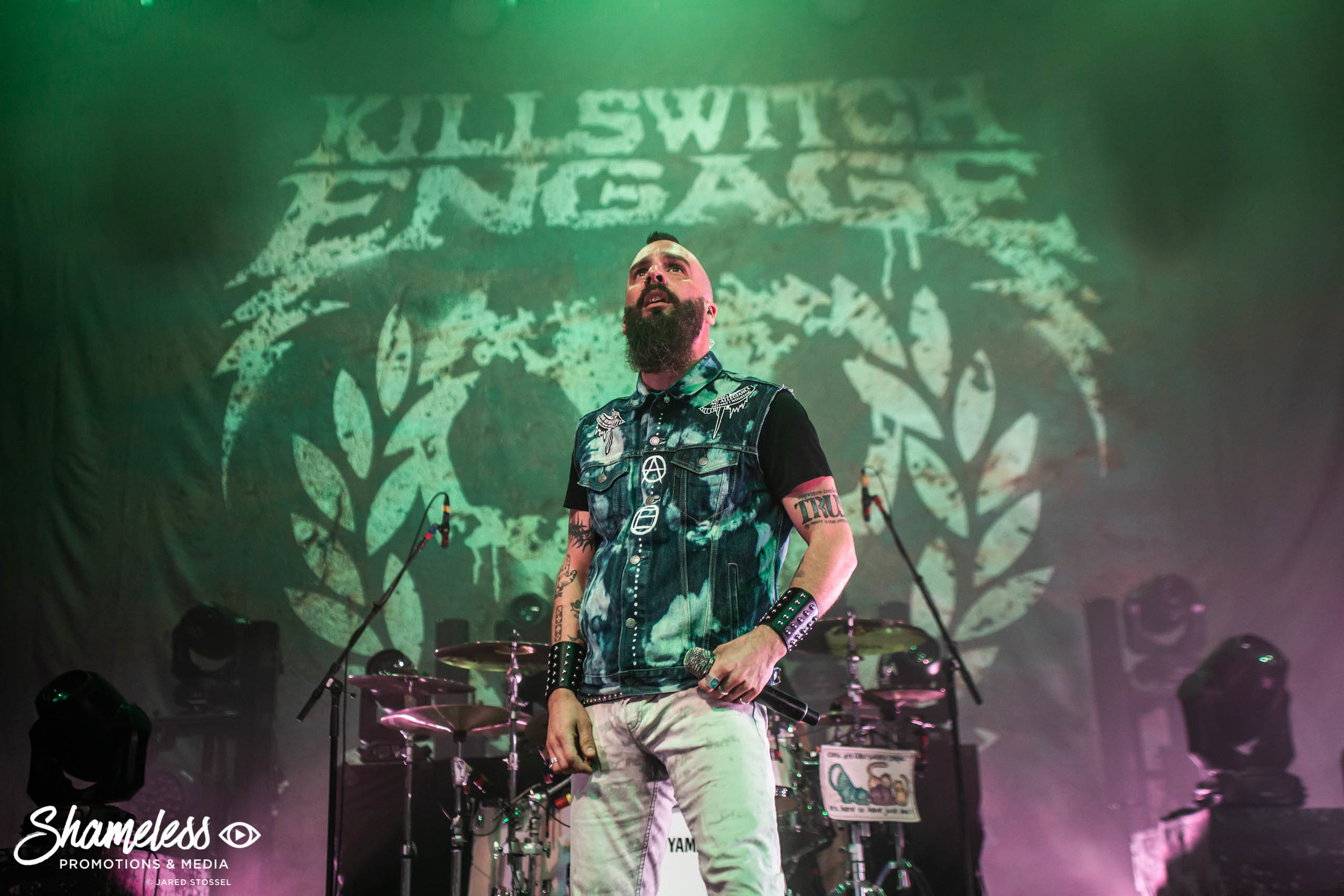 Jesse Leach of Killswitch Engage at The Warfield in San Francisco, CA. April 18, 2019. Photo Credit: Jared Stossel
