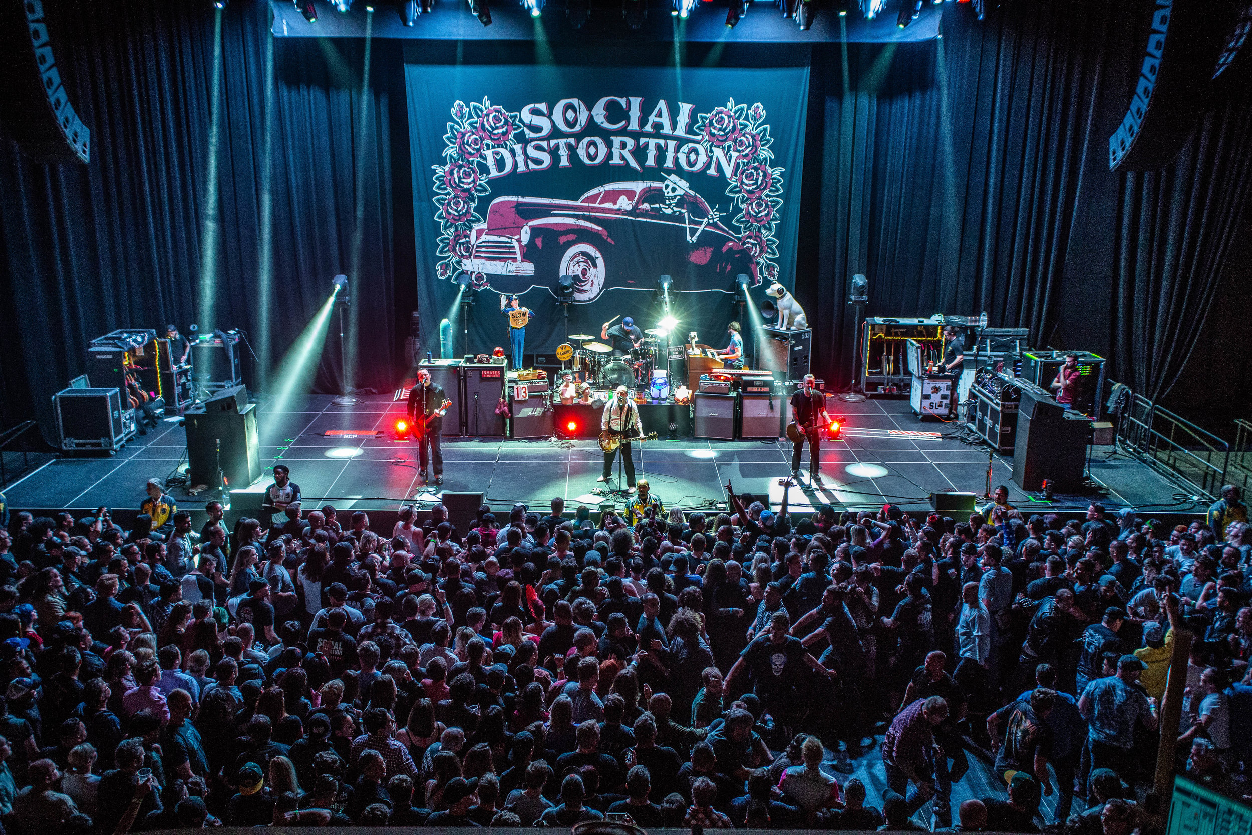 Social Distortion performing in San Francisco, CA. Photo Credit: Jared Stossel