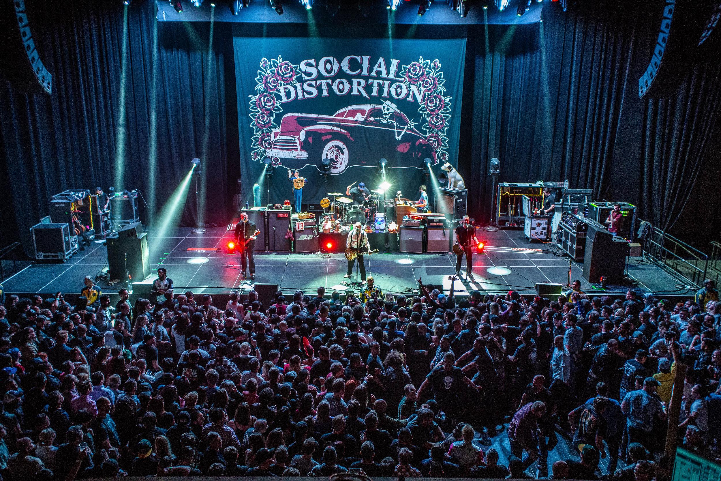 Social Distortion performing in San Francisco, CA. Photo Credit: Jared Stossel