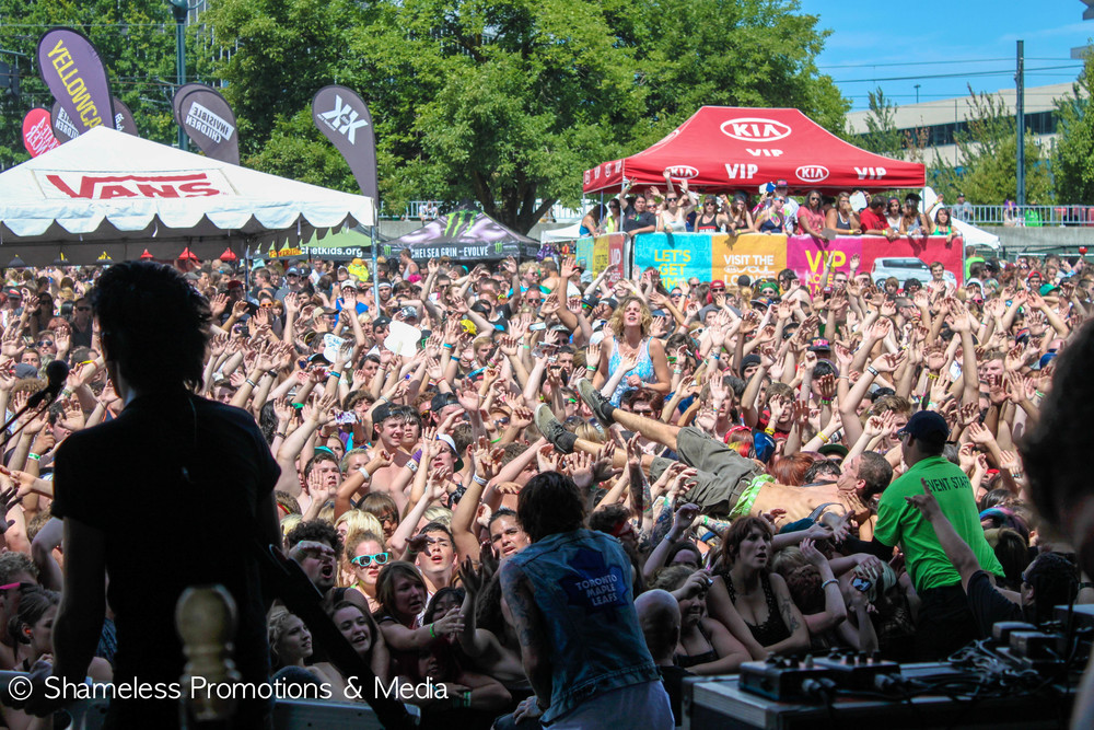 The summer crowd in Portland, OR. Vans Warped Tour 2012. Photo Credit: Jared Stossel.
