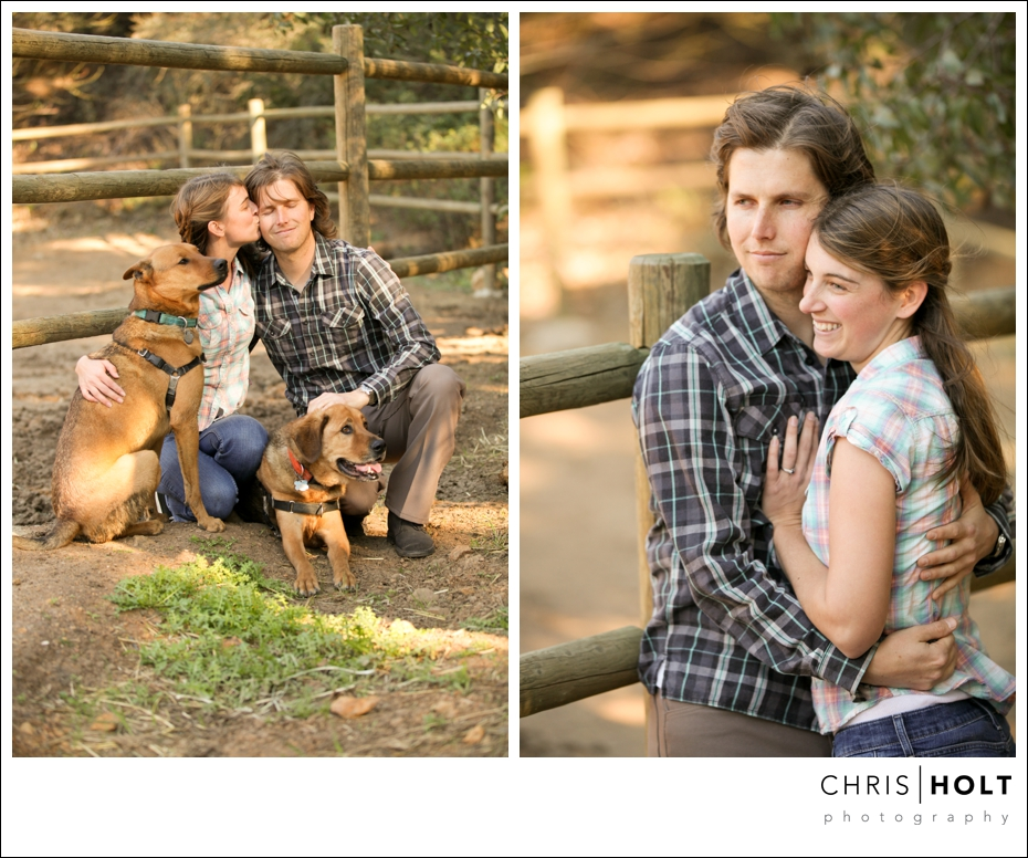Chad and Mishanna with their pups