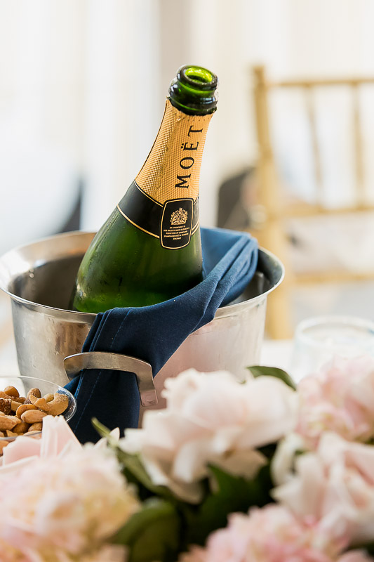 Moet champagne at wedding reception at Summit House Restaurant in Fullerton, CA