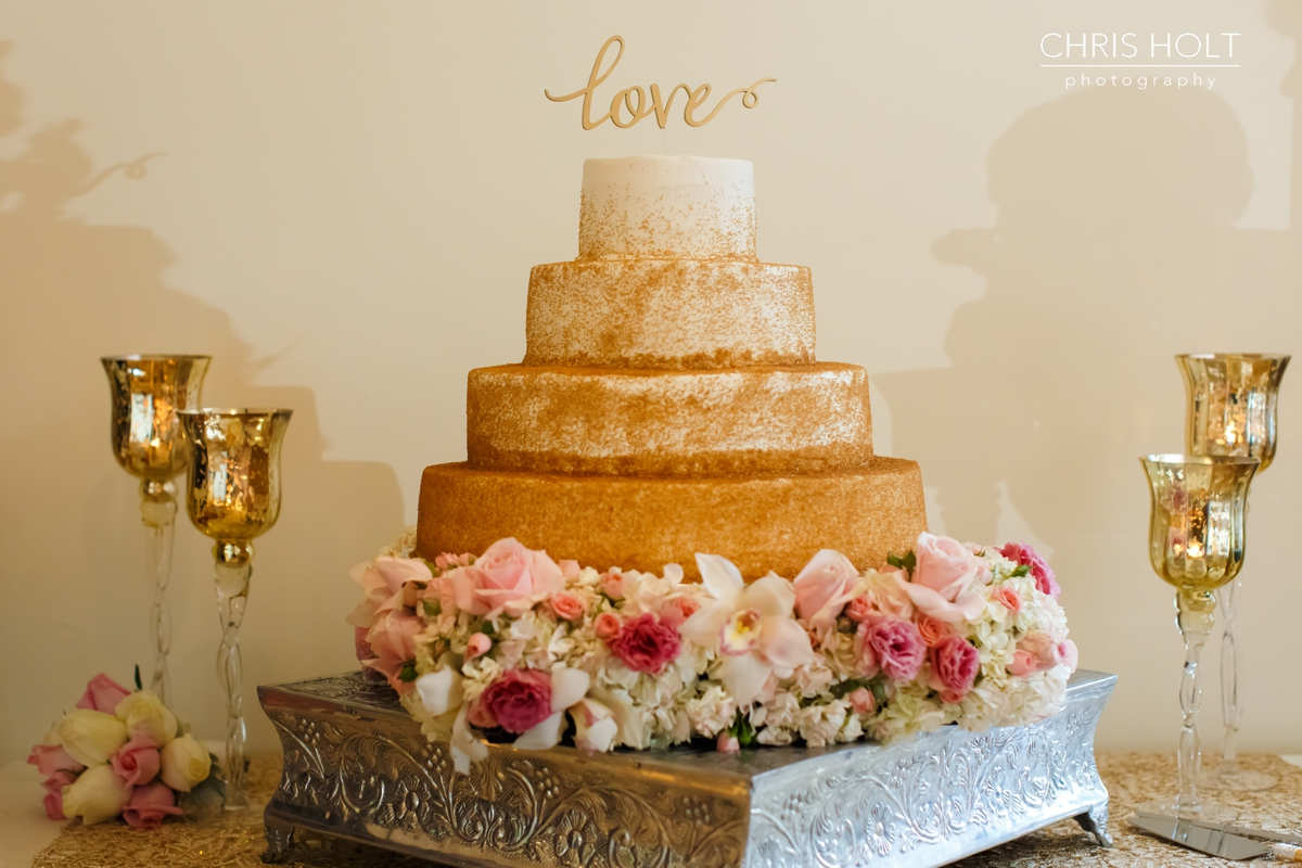 RECEPTION, INDOOR, VENUE, GOLD, CHIVALI, GREEK, GREEK ORTHODOX, SANTA BARBARA GREEK ORTHODOX CHURCH, SANTA BARBARA, HYATT, BEAUTIFUL, CANDID, ROMANTIC, FLORAL, BRIDAL, DETAILS, CAKE, CAKE TOPPER