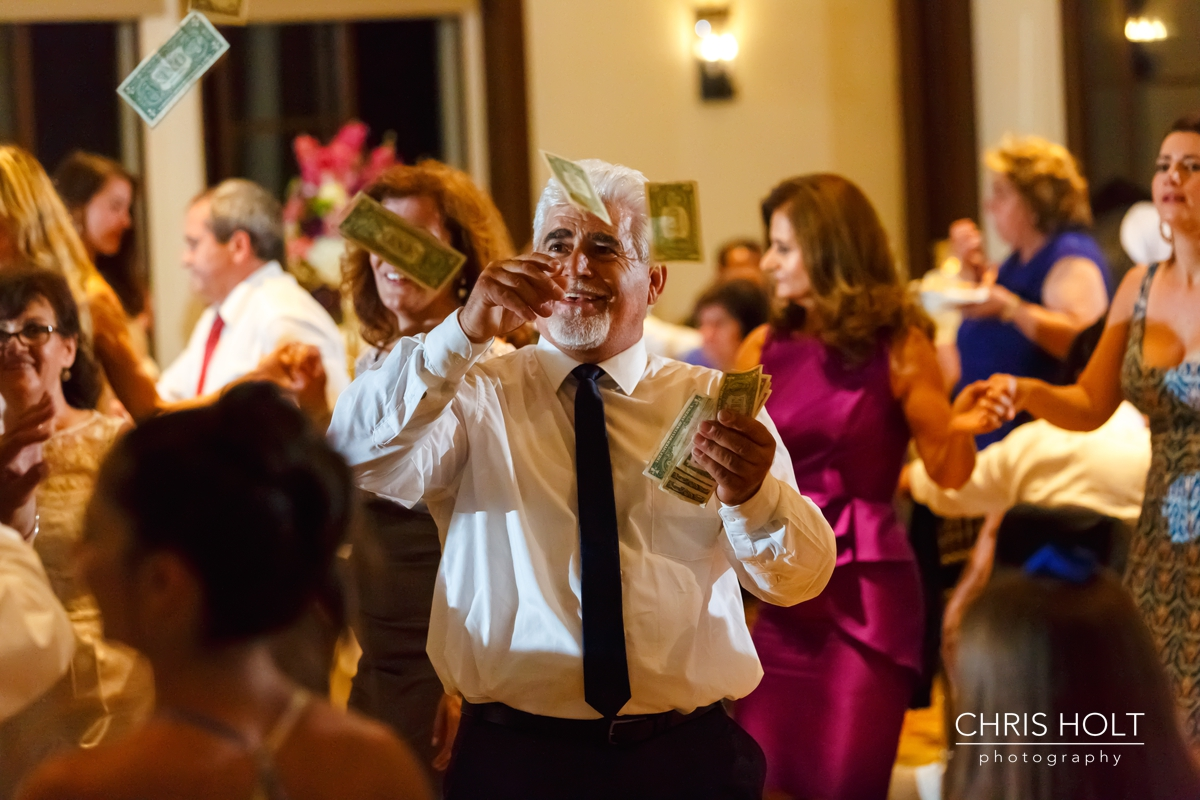 RECEPTION, INDOOR, VENUE, DANCING, HAPPY, MUSIC, GREEK, GREEK ORTHODOX, SANTA BARBARA GREEK ORTHODOX CHURCH, SANTA BARBARA, HYATT, BEAUTIFUL, CANDID, ROMANTIC