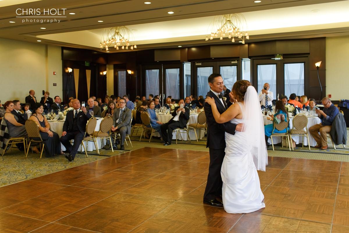 reception, venue, ballroom, dance floor, dancing, mother son, father daughter, formal dance, first dance
