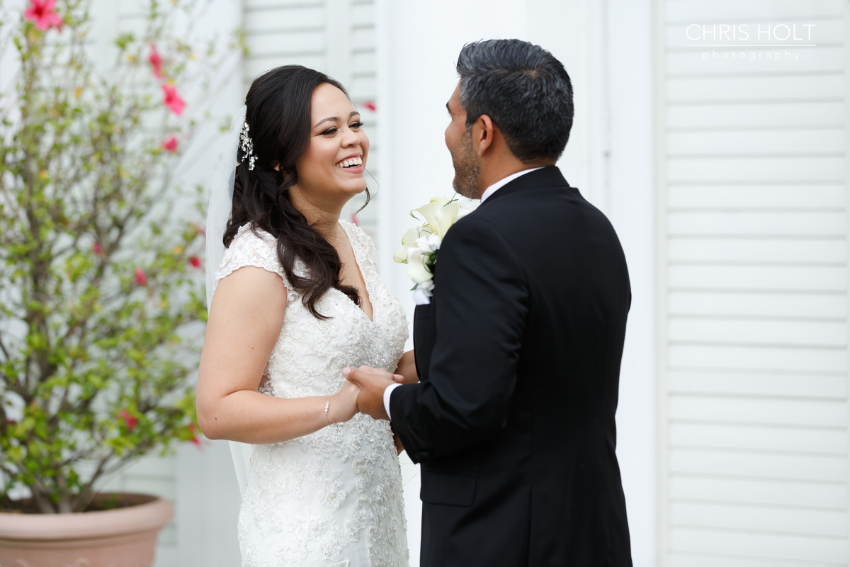 first look, wedding, bride, groom, california country club, whittier, wedding venue, portraits, candid, bouquet, flowers, wedding wire, the knot