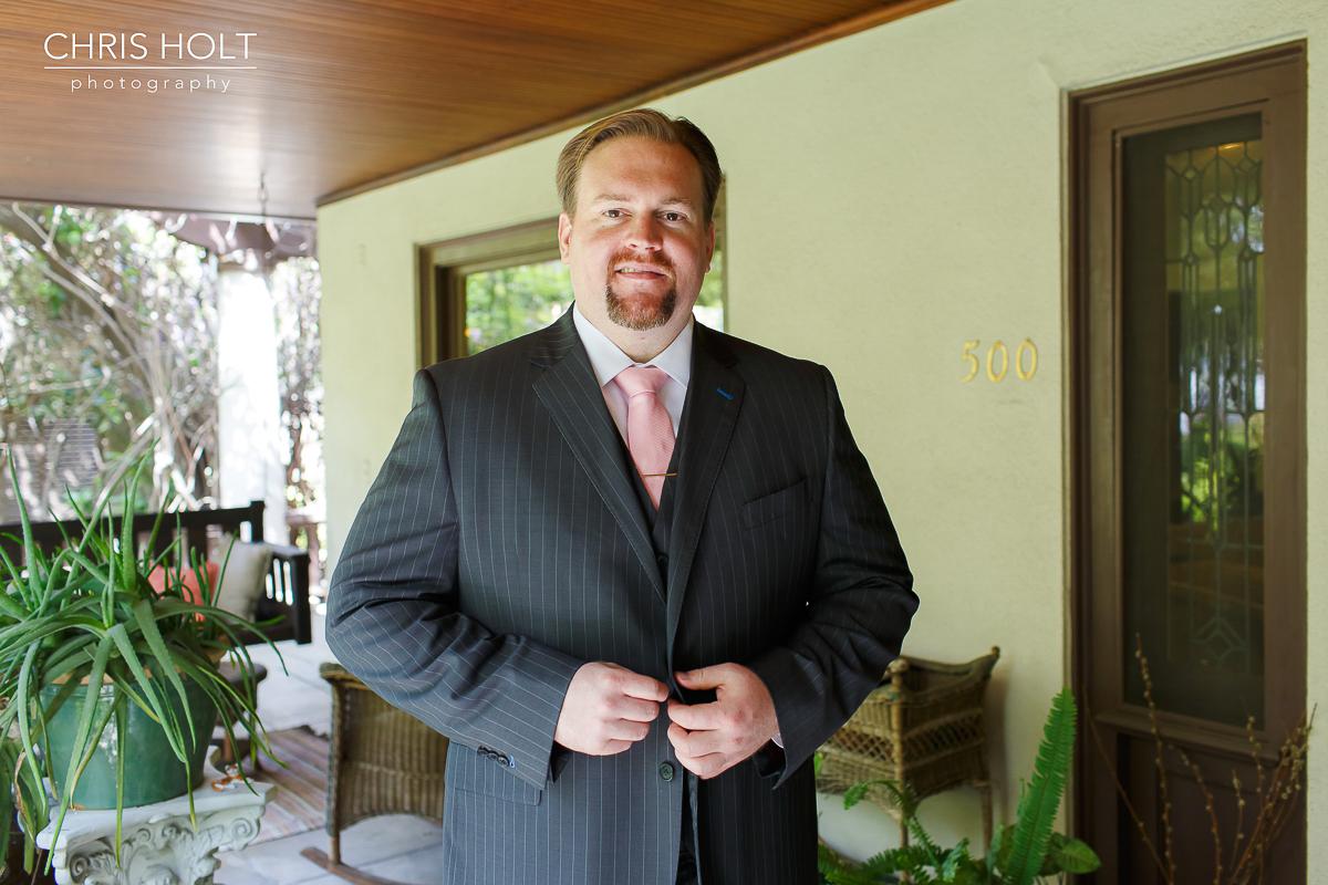 Groom Solo Portrait in his suit