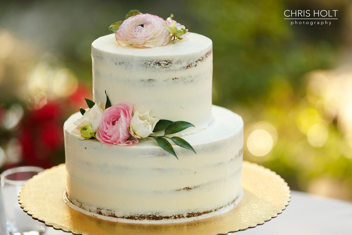 Wedding cake close up at Storrier-Stearns Japanese Garden