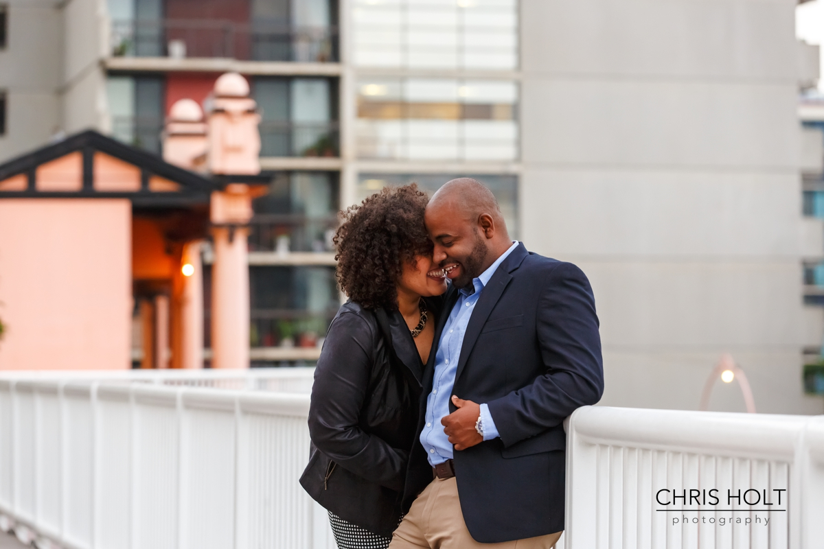 Fun, urban Engagement Session with Monica and Jhanisus at Angel's Flight in Downtown Los Angeles