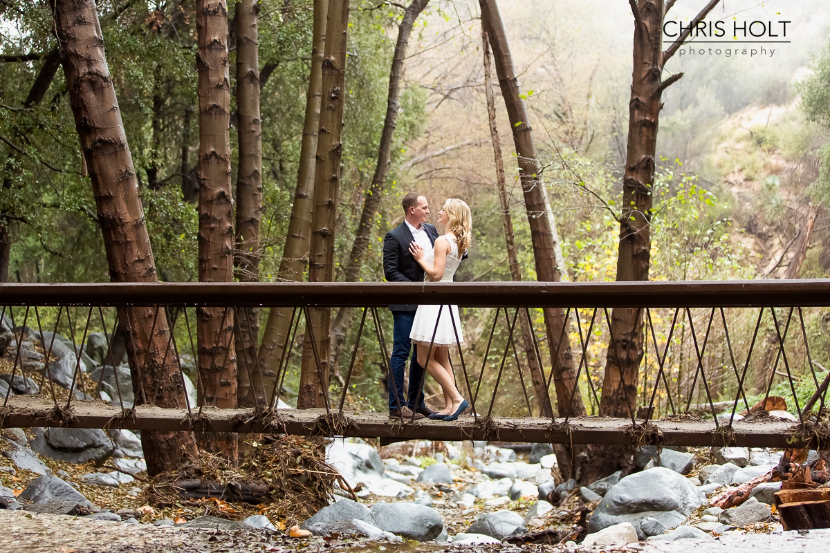 Kimi and Daniel in Switzer Falls for their adventurous, romantic engagement session