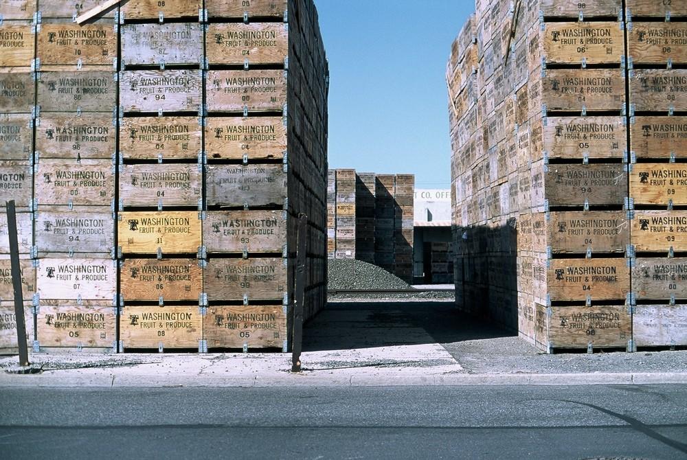 Fruit Boxes, Yakima, Washington, 2012.
