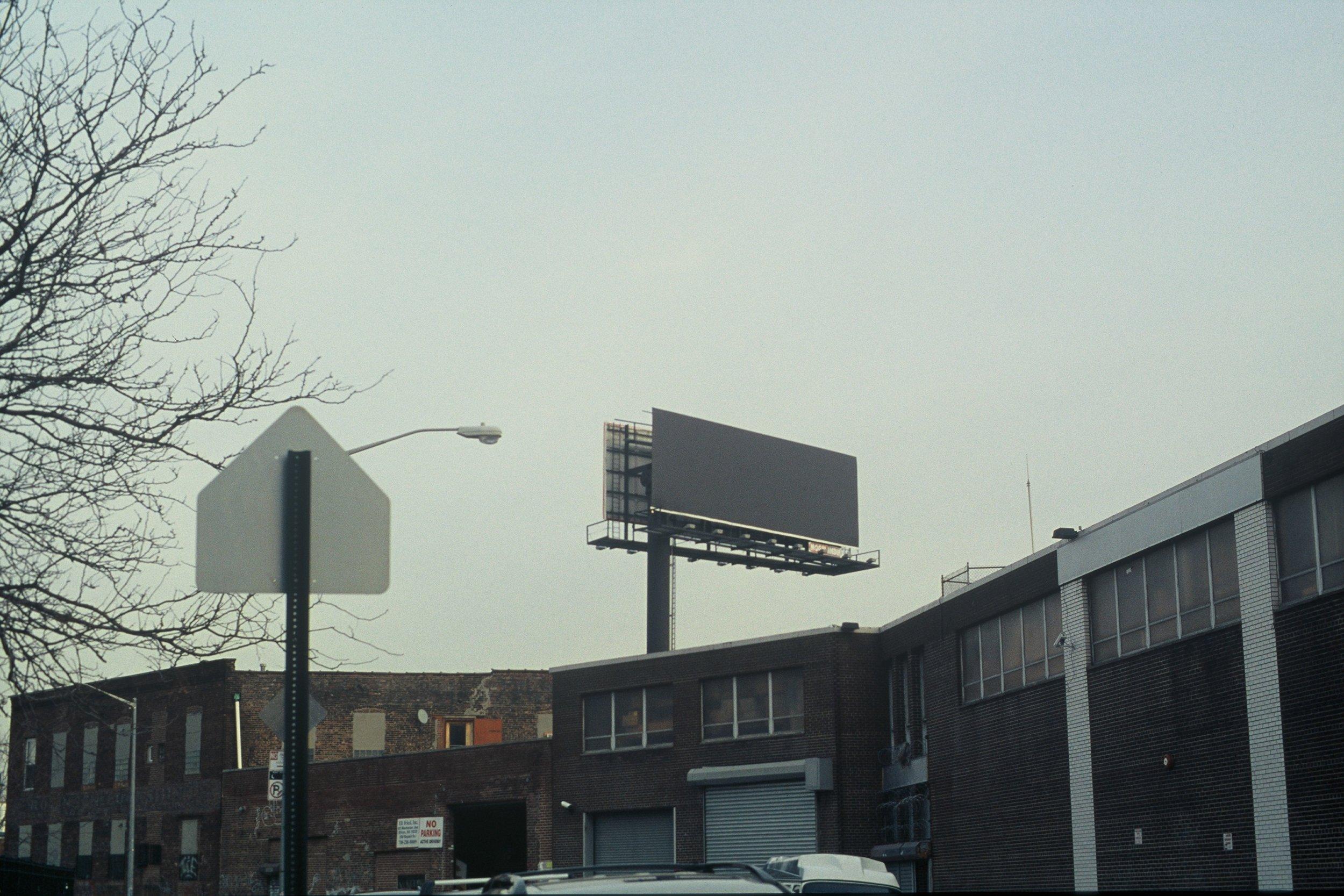 Grey Billboard, Brooklyn New York, 2009
