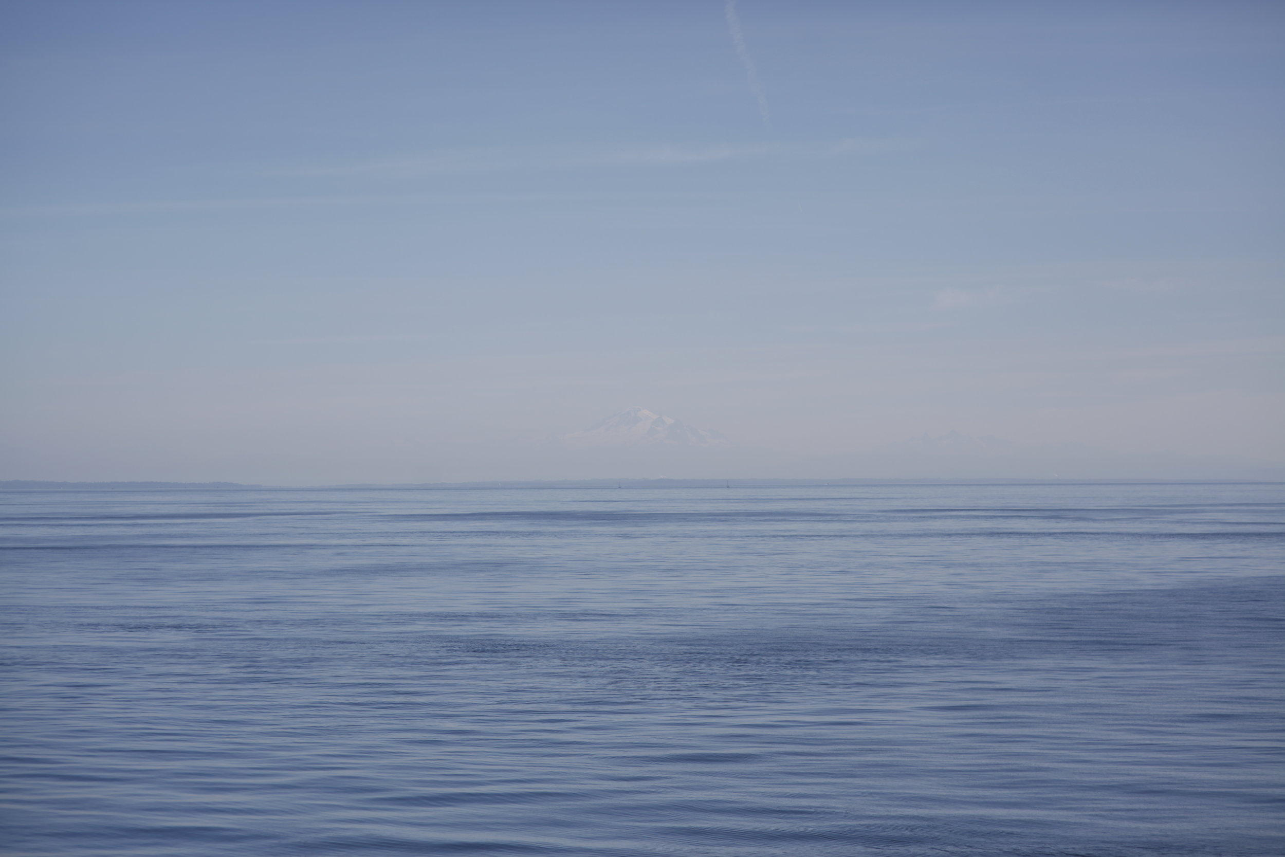 Mt. Baker, BC, Canada (view from somewhere near the Gulf Islands) 2014