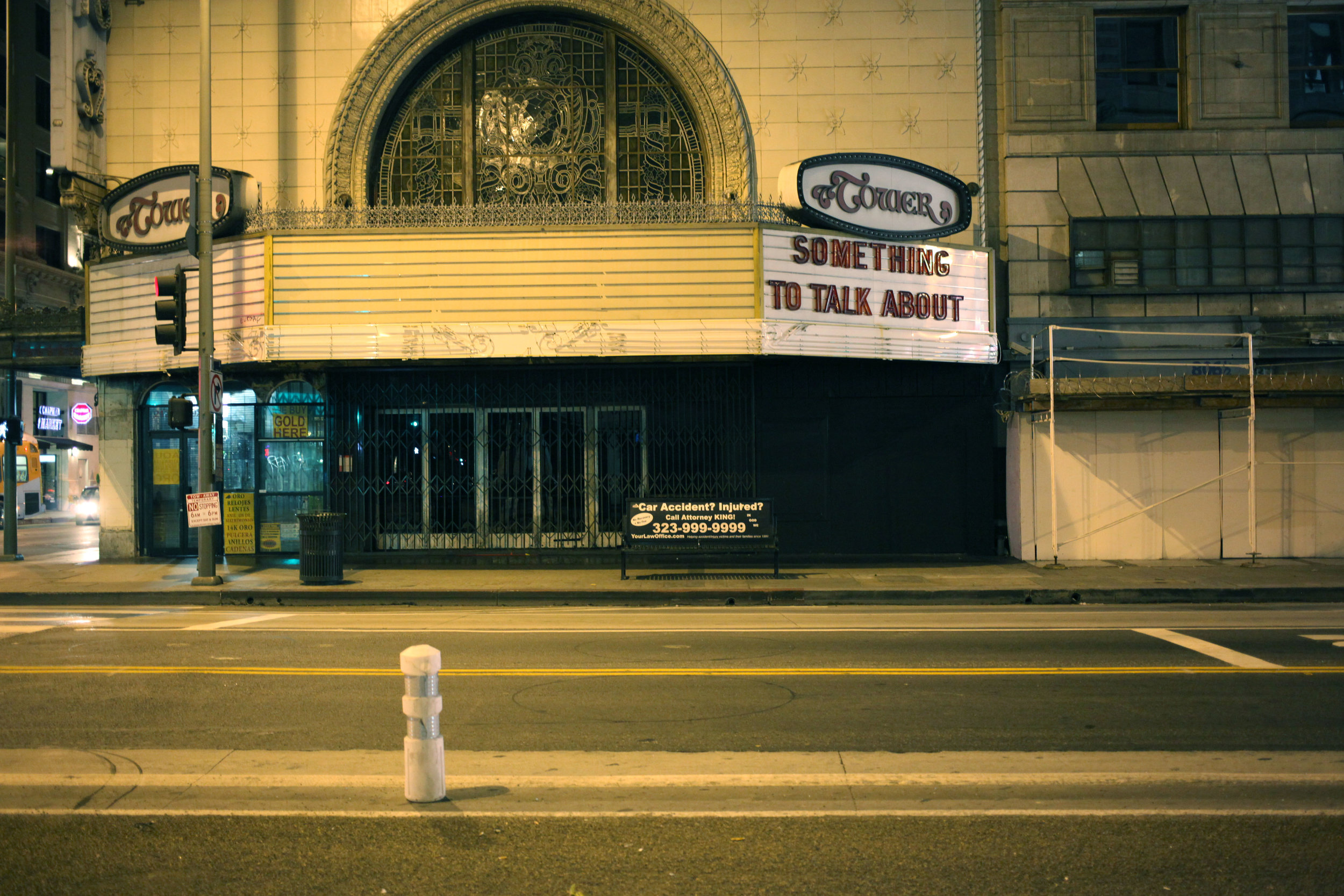 Tower Theatre (something to talk about), Los Angeles, 2015