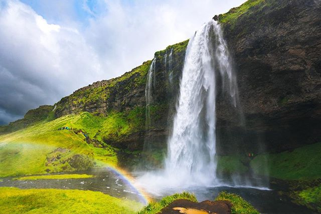 One of hundreds of breath-taking waterfalls in Iceland. Also one of the many places you can witness the local fluro-clad, camera-wielding wildlife in their natural element. Observe from a safe distance or risk becoming one of them.