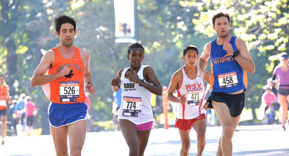 Lead women: finishing first in 1:17:01
