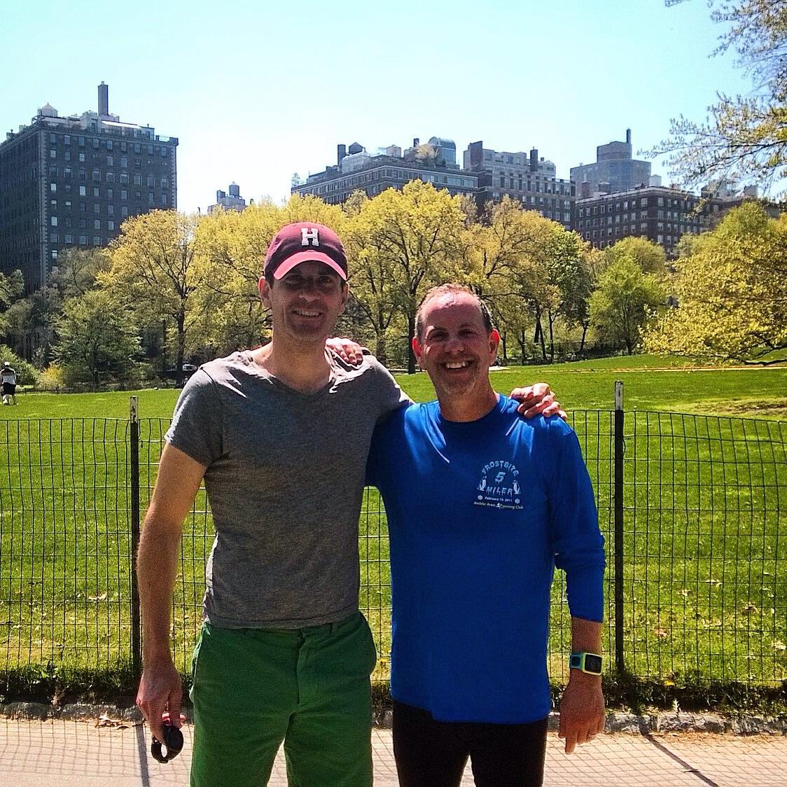 Last workout before his first Half Marathon