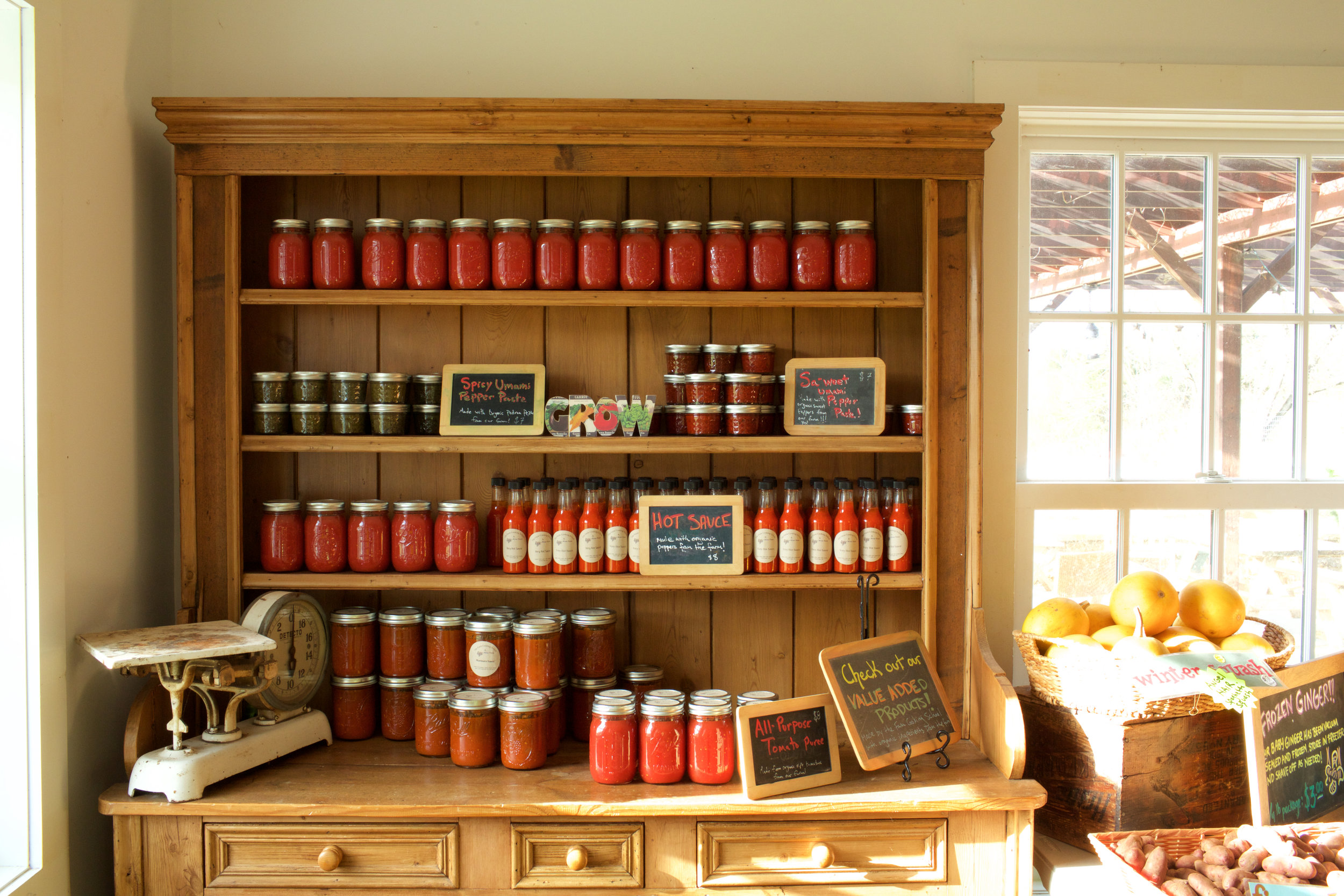 Stock your kitchen with canned goods made with organic ingredients from the farm