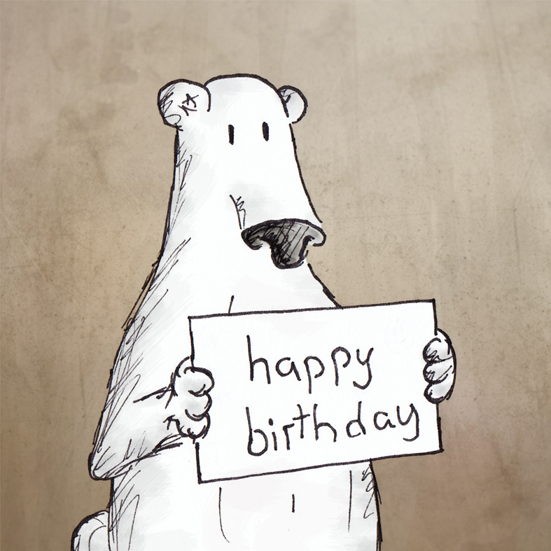Polar Bear Birthday Buddy ( http://tinyurl.com/appqfou ). Land of le Beef
