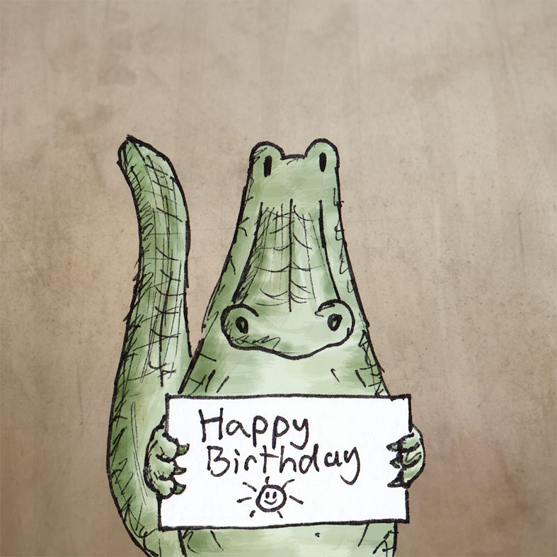 Alligator Birthday Buddy ( http://tinyurl.com/appqfou ). Land of le Beef