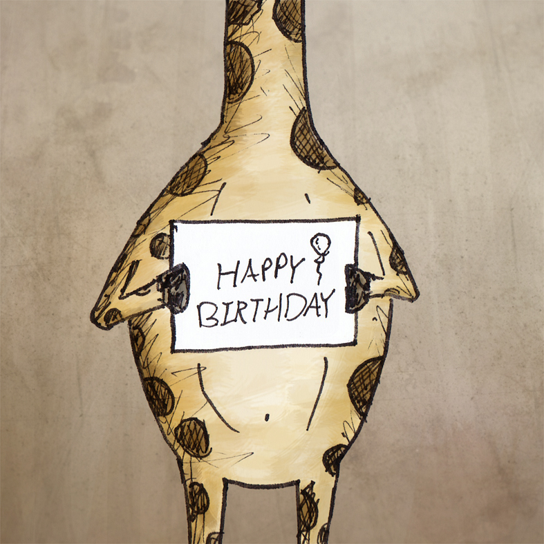 Giraffe Birthday Buddy ( http://tinyurl.com/appqfou ). Land of le Beef