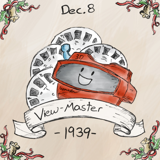 The View-Master was introduced in 1939 at the New York World's Fair, and was marketed as an alternative to postcards. The full history of the View-Master leading up to this is relatively long and boring, but one interesting fact is that the US military purchased 100,000 View-Master for training exercises; if this isn't enough to intimidate the enemy, nothing is.