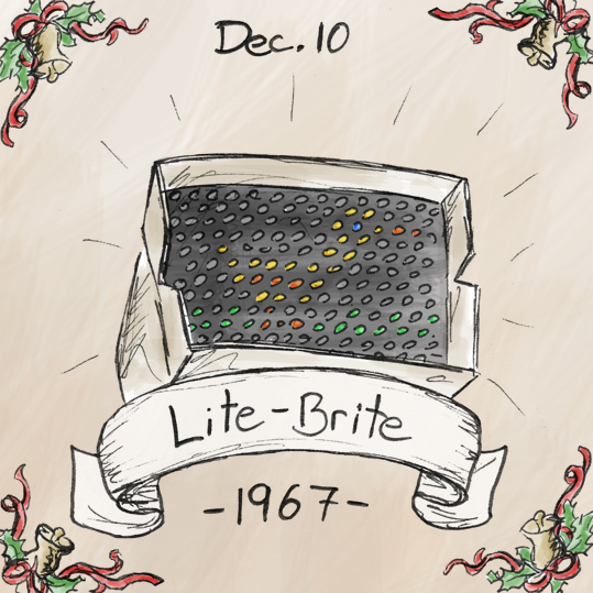 Before I say anything about the Lite-Brite, I should mention that the image on the Lite-Brite that I drew is supposed to be a duck; if you look closely, you might be able to see it. It is hard to find a detailed history of the Lite-Brite online, other than the fact that it came out in 1967. A little personal history however, is that Lite-Brite used to be one of my favourite toys for a while growing up. In fact, I wish I had one right now to play with.