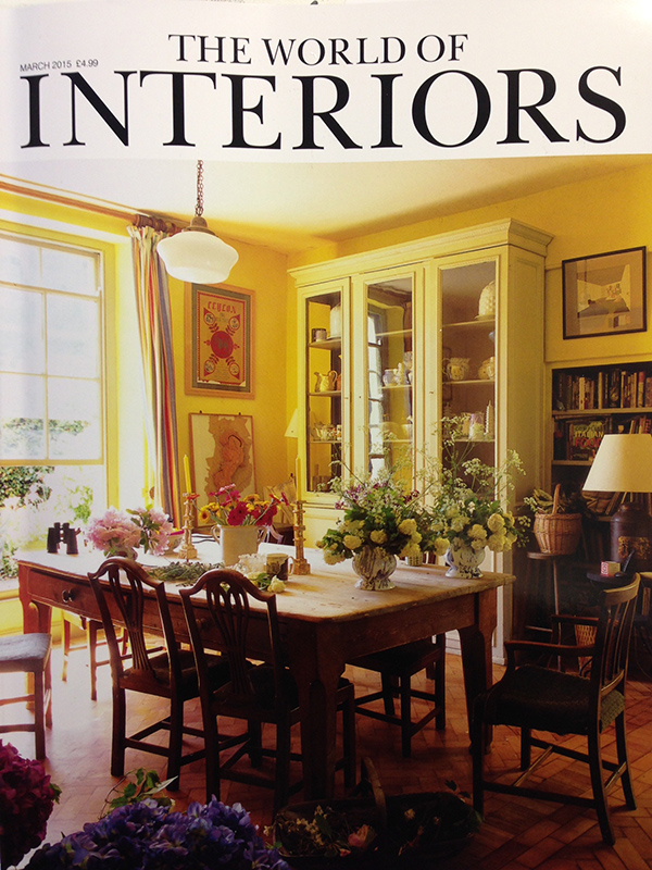 """Gilded glass panels by Emma Peasgood"" (apparently that's me!), World of Interiors, March 2015"
