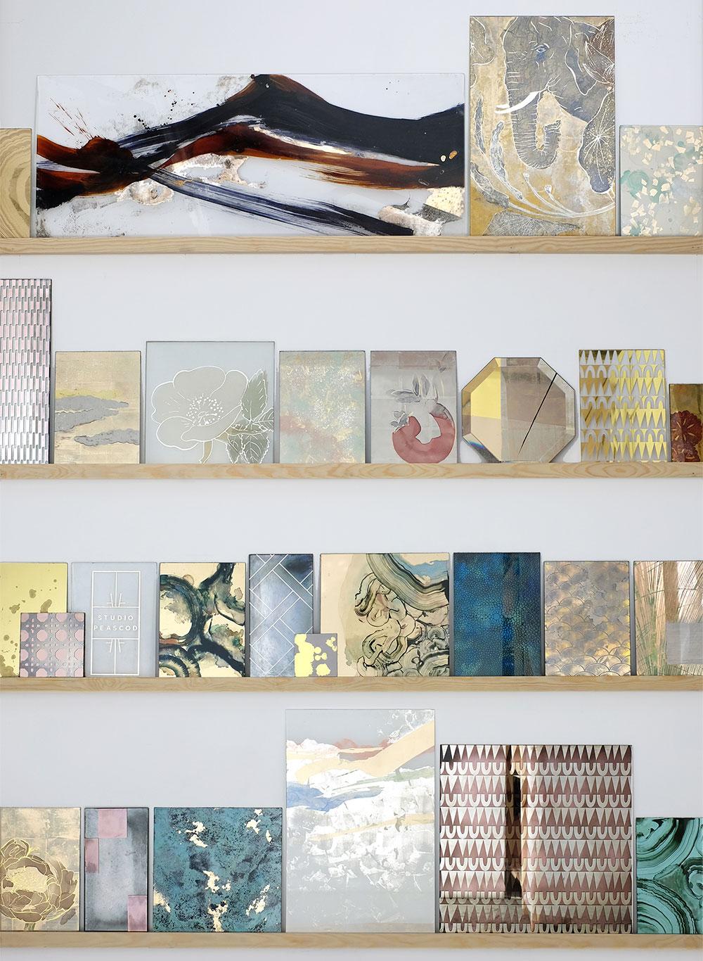 Studio Peascod Verre églomisé sample wall