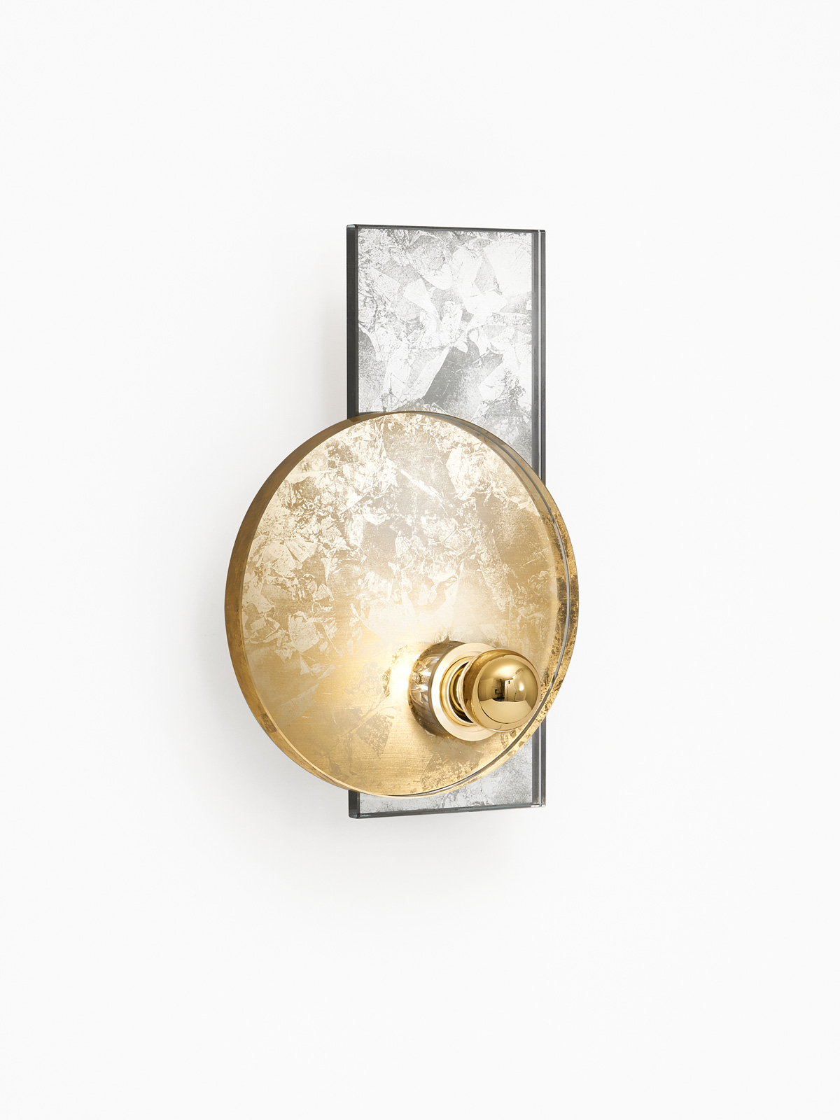 Dawn wall light -  gold (side view)