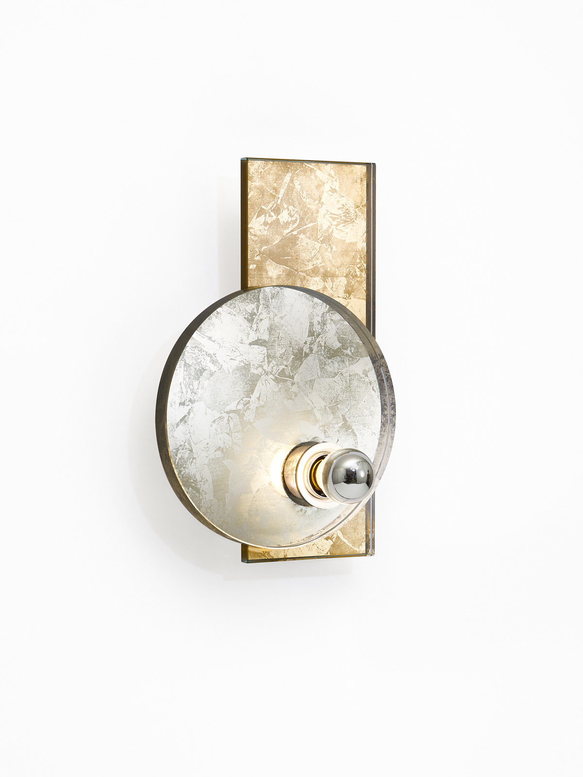Dawn wall light -  pewter (side view)