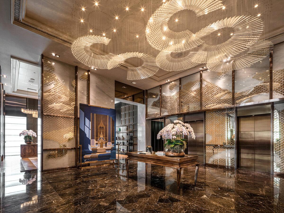 Rosewood Bangkok, 'Golden Temple Tiles' with Celia Chu Design & Associates