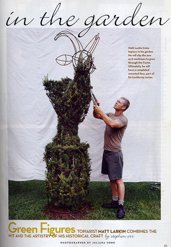 Black Barn Farm's Matthew Larkin in House and Garden Magazine.