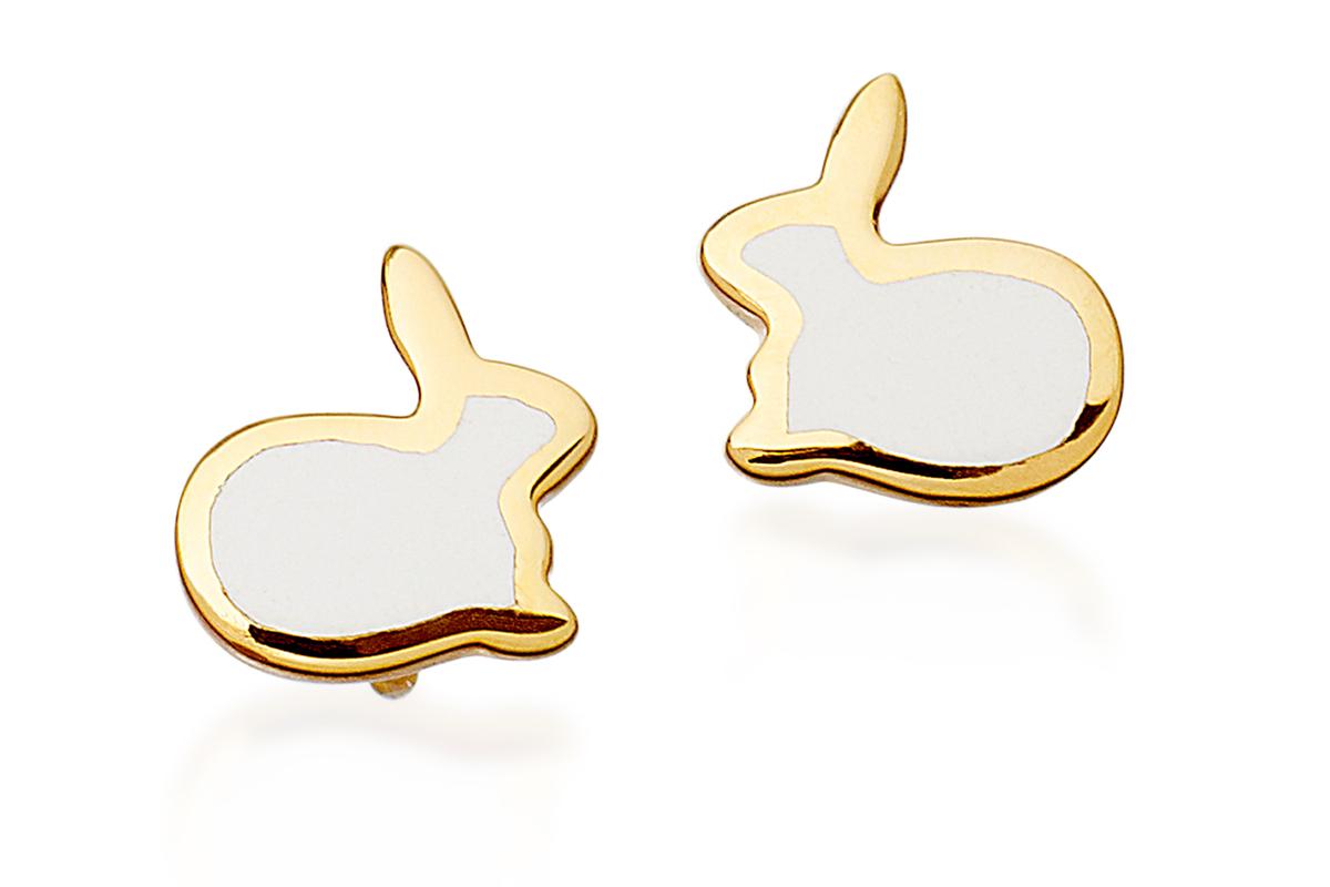 Bunny Love Stud Earrings by Kate Hillier at Astley Clarke