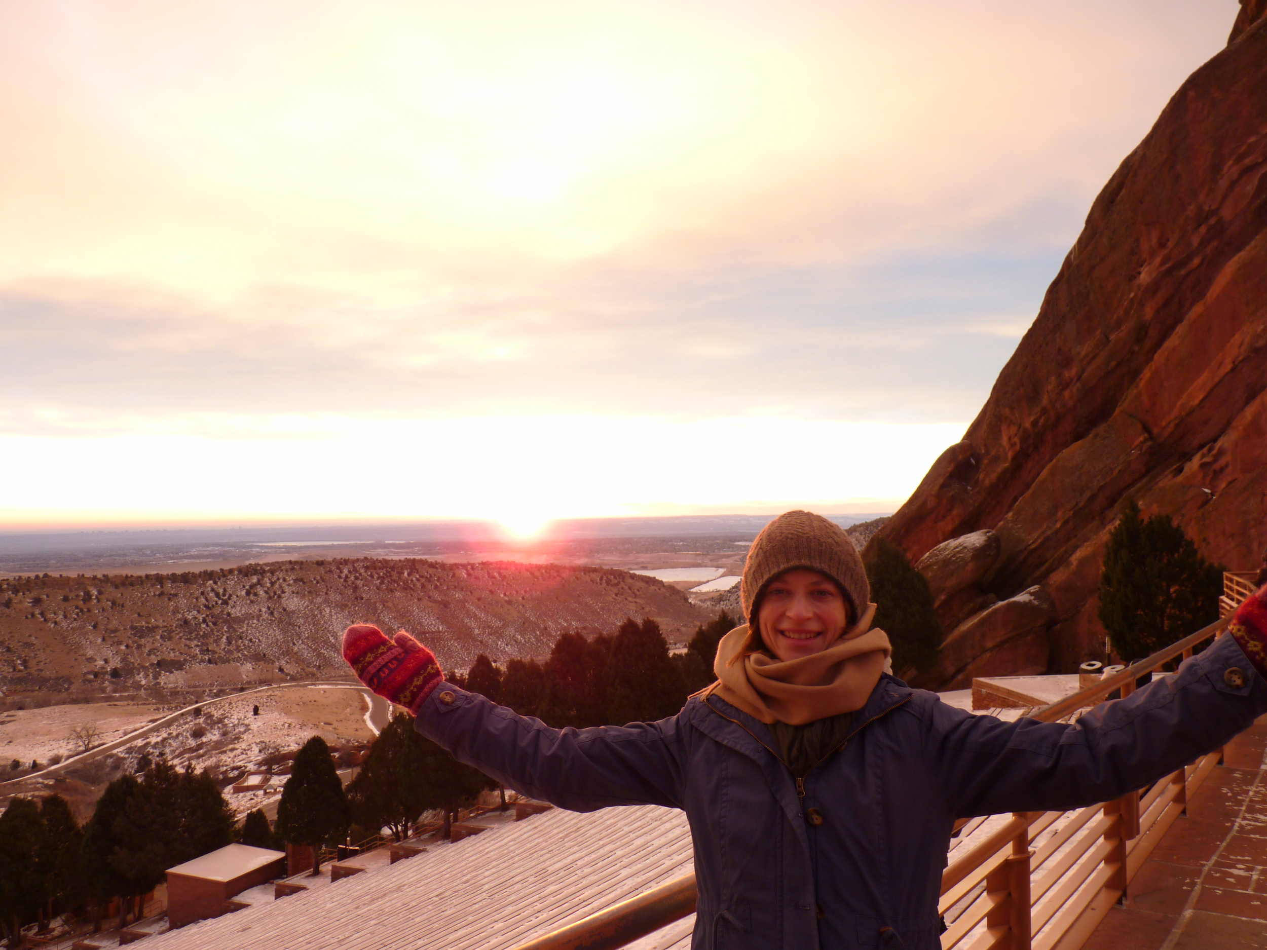 Sunrise on New Years day at Red Rocks