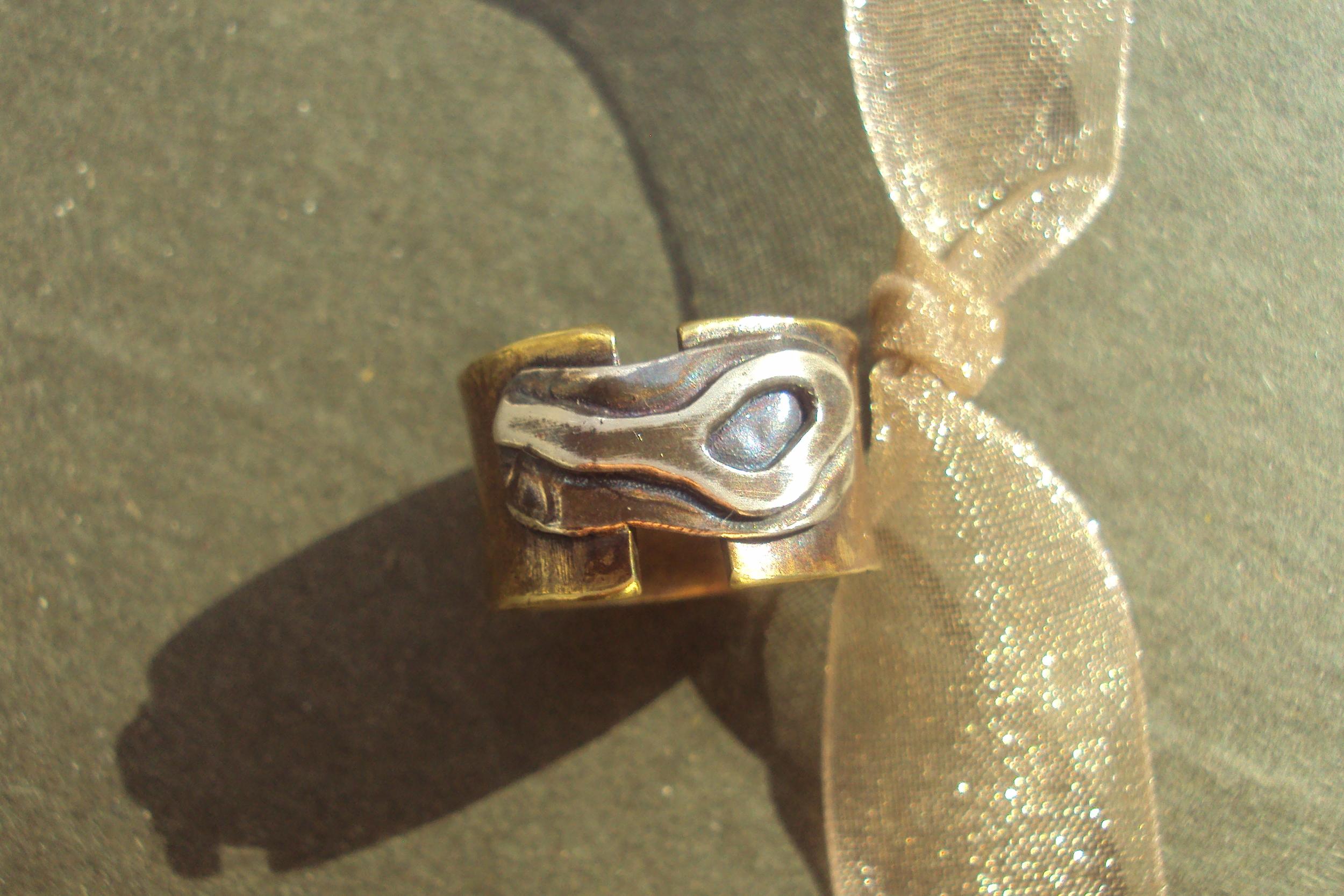 Ring- brass, ss SOLD