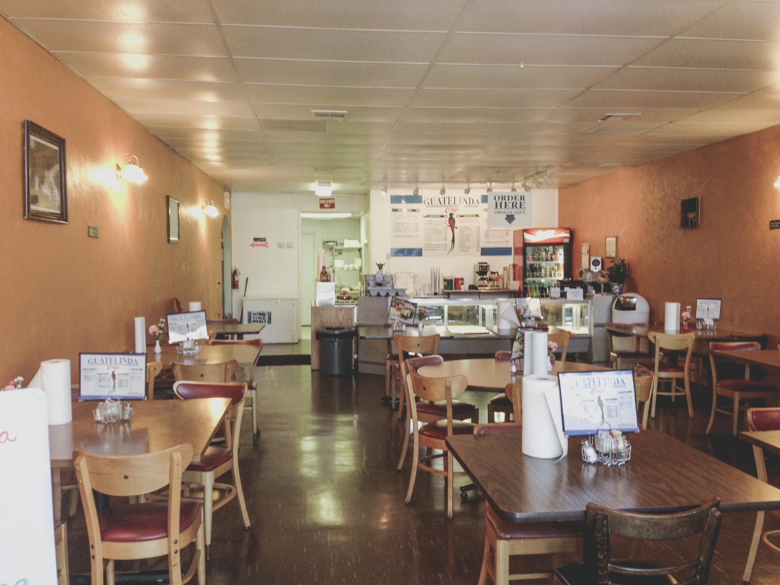 Guatelinda Cafe on Elm St. in Denton, TX.