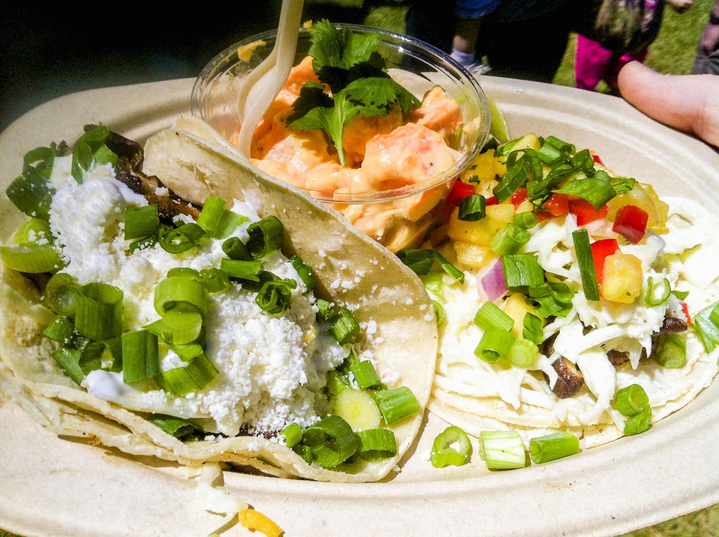 The original taco plate at Shiitake Swerve.