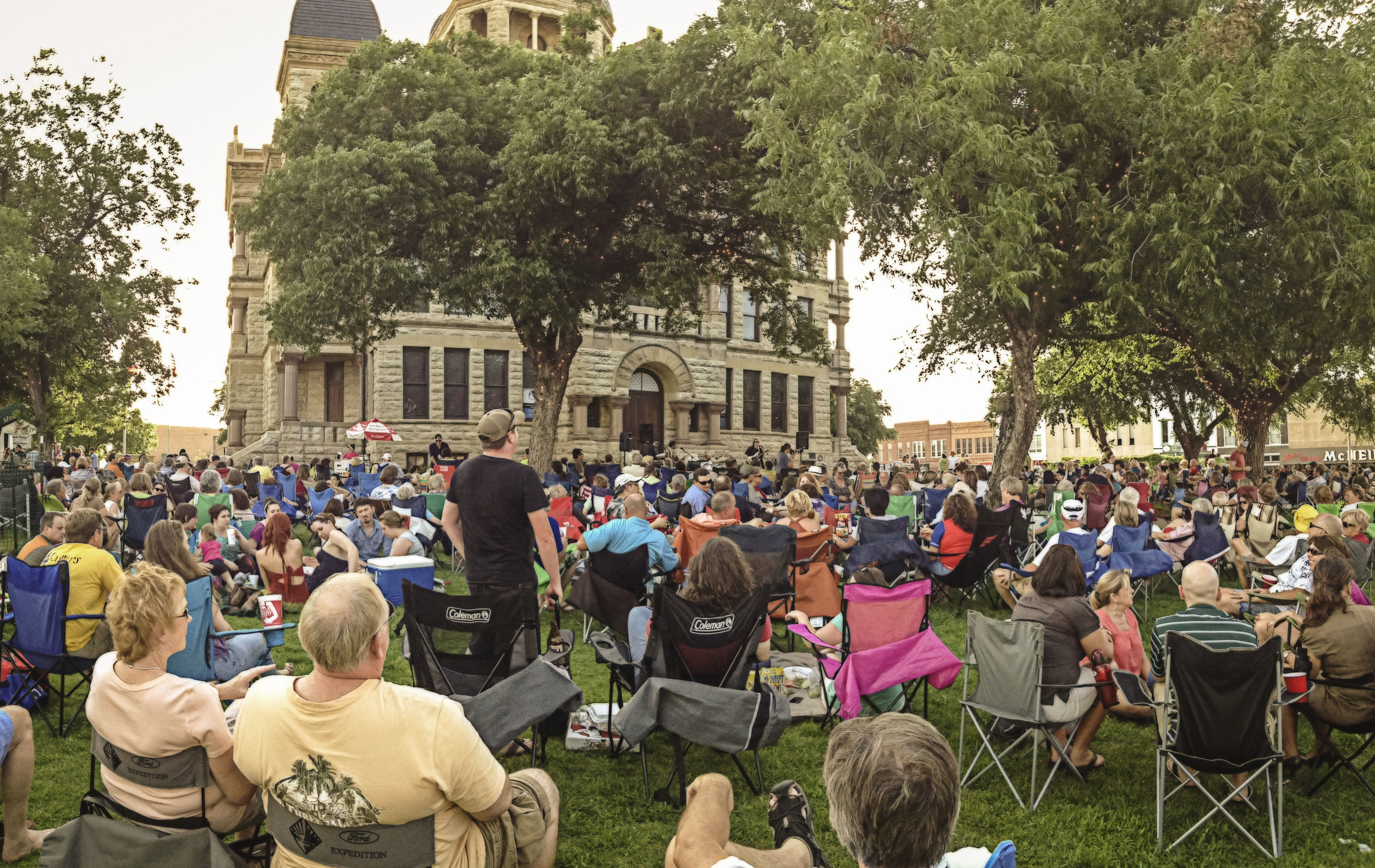 Twilight Tunes drew a big crowd to the square last Thursday as The Fun Addix covered lots of old tunes.