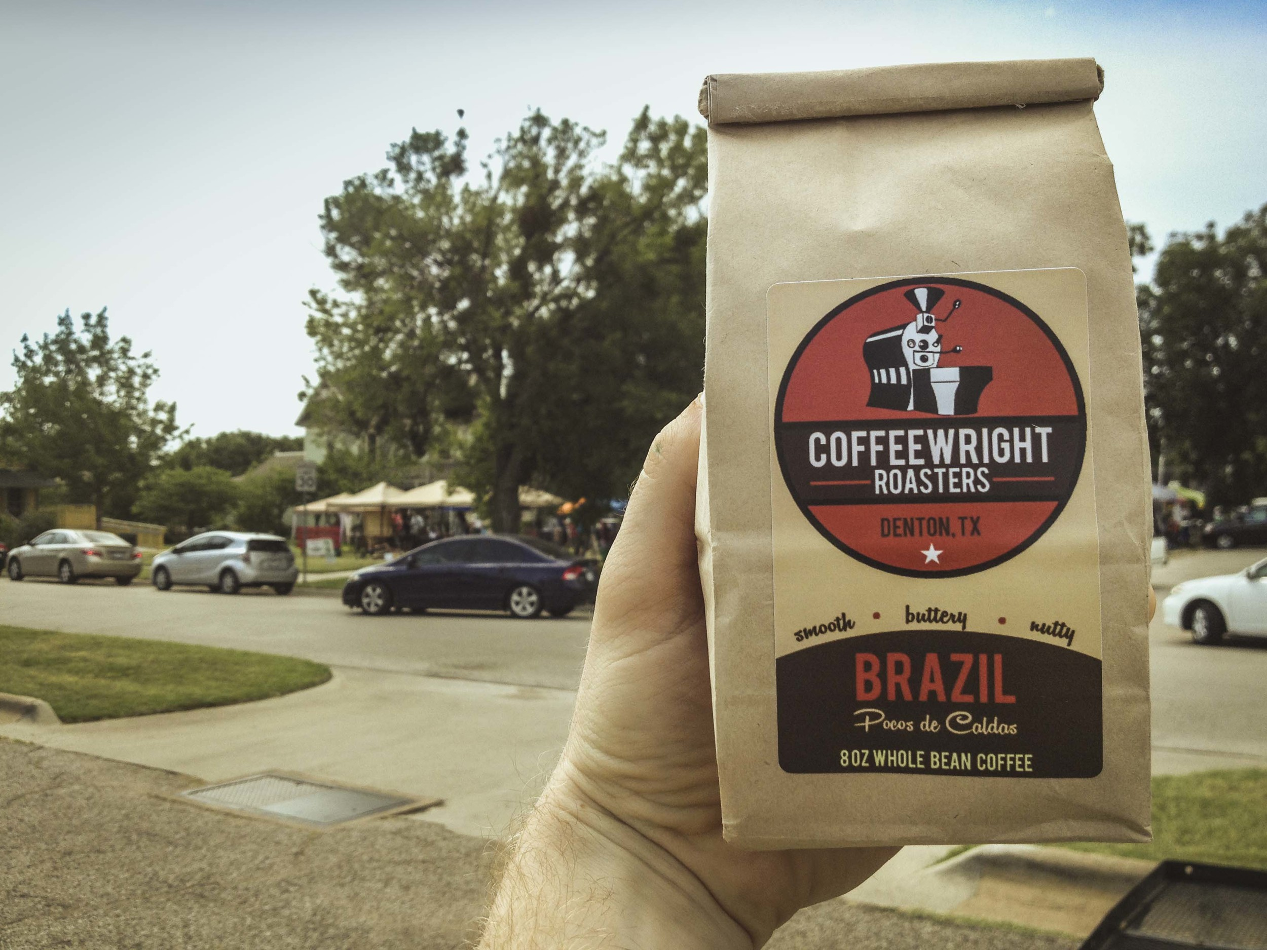 Saturday we headed over to the market and grabbed a bag of beans from the new Coffeewright roasters in town. We'll keep you updated with our thoughts on 'em!