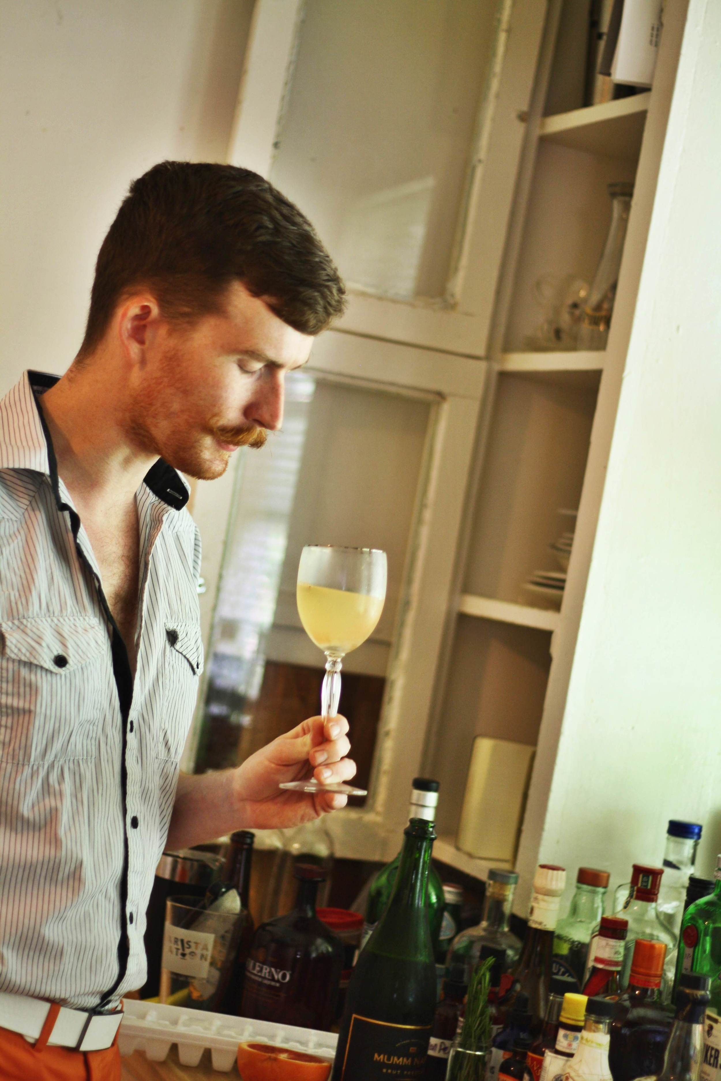 We did a little recipe testing and photo shooting with Thomas Paessler for a new cocktail recipe.
