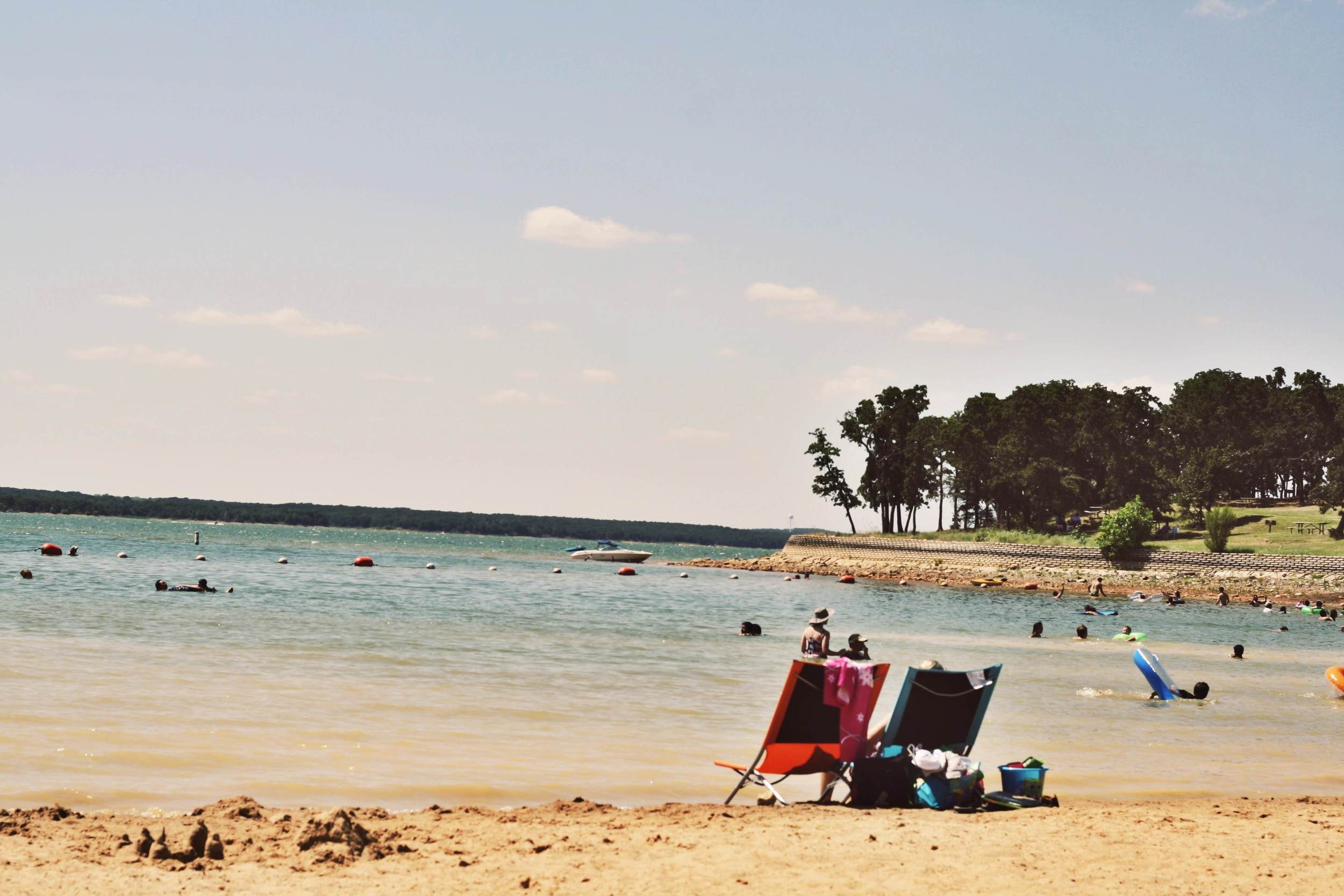 We spent a little time at the oh-so-close beach of lake Ray Roberts.