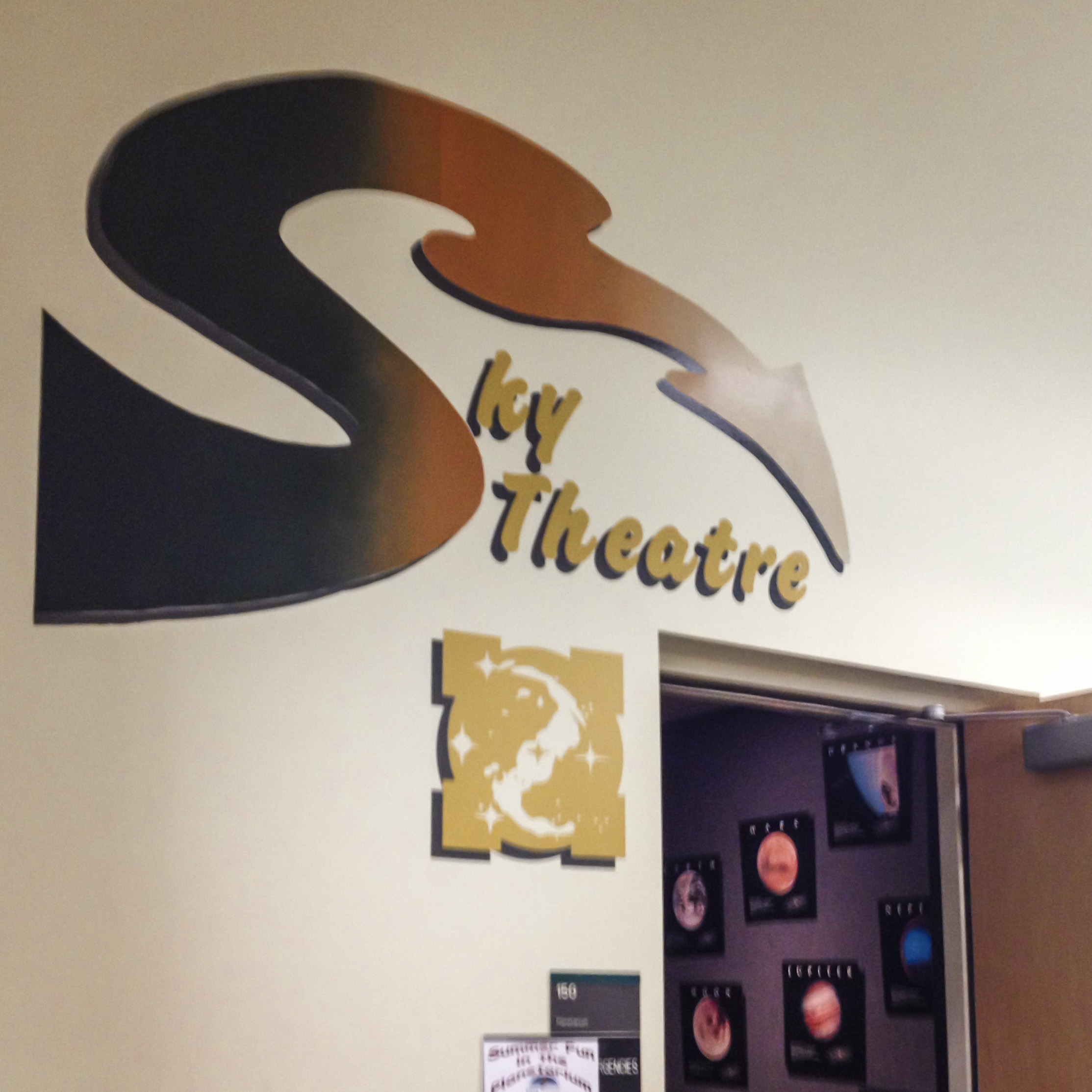 We also got the chance to take in a show at the Star Theatre inside UNT's Environmental Sciences building. While we were actually checking out a movie for kids, we learned a lot, ourselves, and definitely recommend going there.