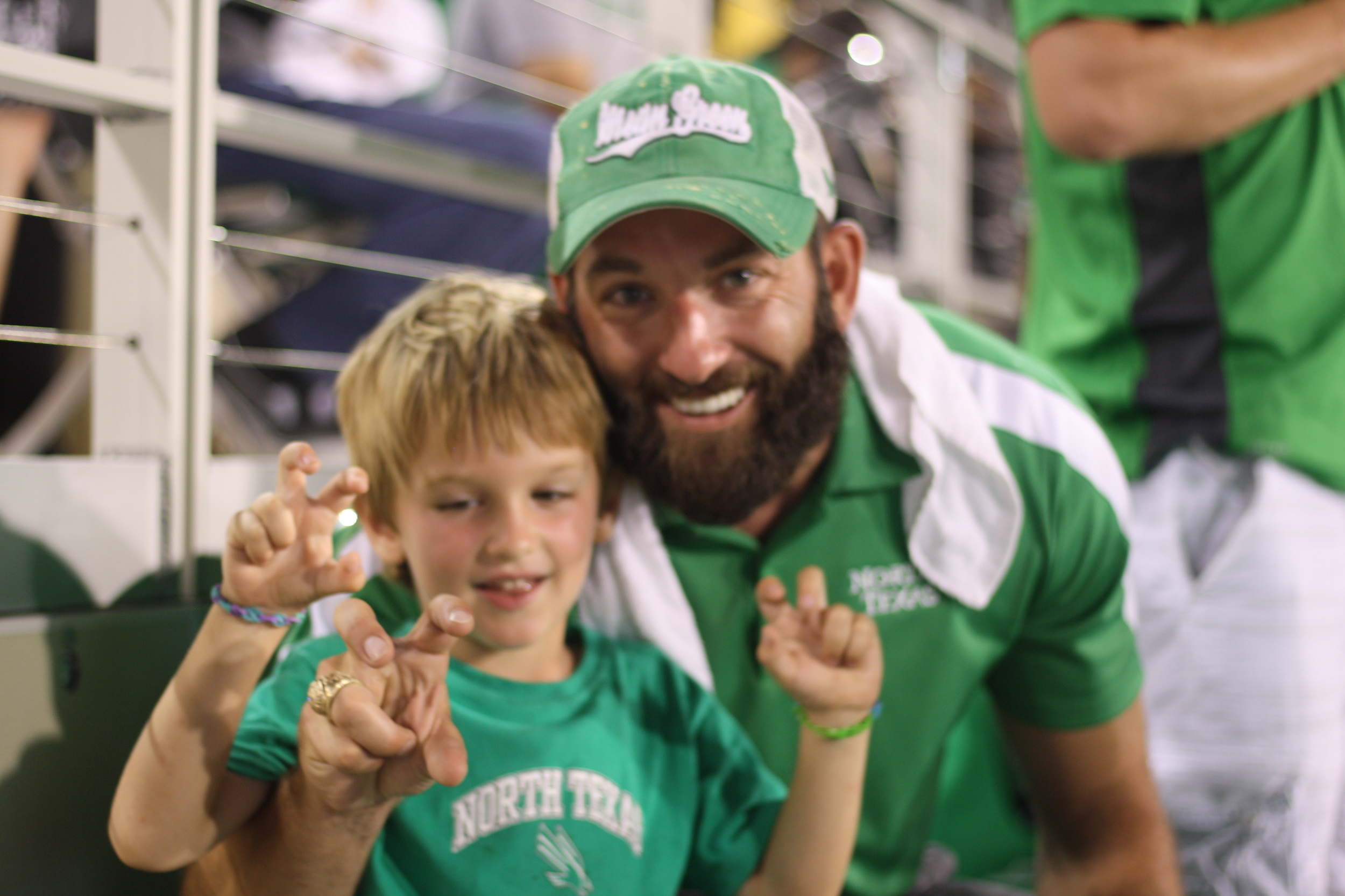 We loved seeing all of the UNT spirit being taught to future generations.