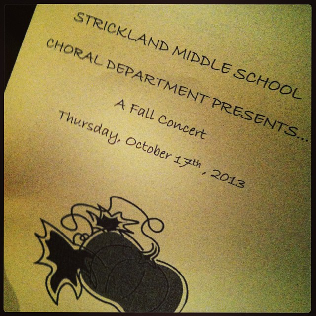Reader  Deborah Nepal  posited that Strickland Middle School's Fall Choir Concert had better music than many Denton bars. We wondered what bars, exactly, she had been frequenting.