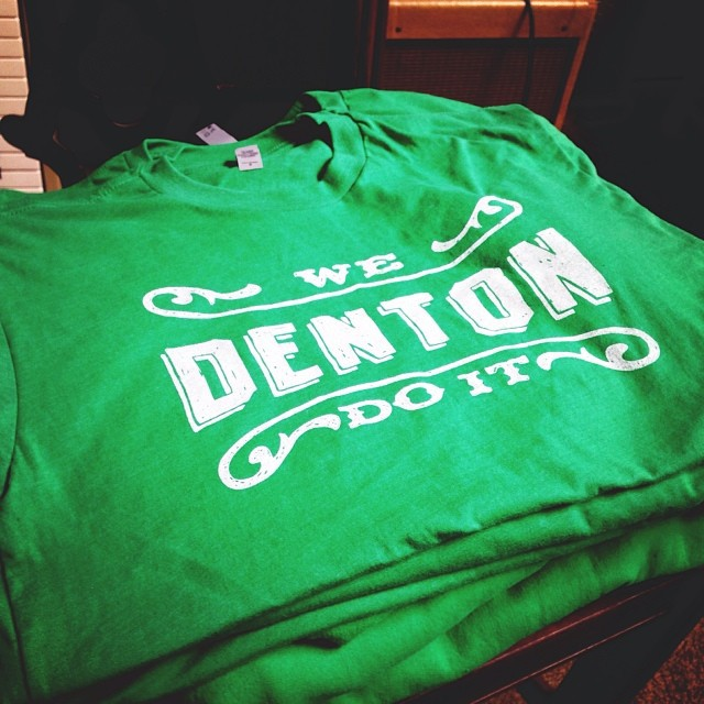 """The dudes over at  Pan Ector  were awesome enough to get us a limited edition run of some """"Mean Green"""" UNT shirts for the Homecoming Parade this past Saturday. Maybe you caught some of us on top of a float yelling at you about your haircut or that sweater we liked. Where  did  you get that sweater anyway? Thanks Pan Ector!"""