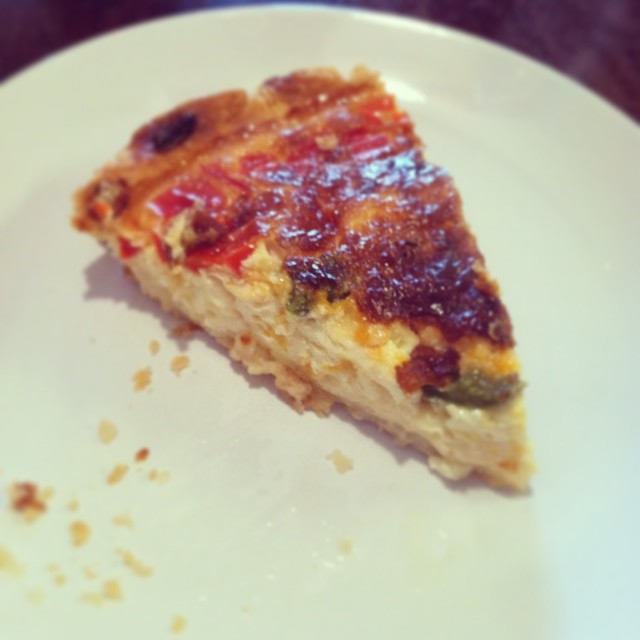 Michael Seman  texted his way through a quiche recipe successfully. Wonder how many ice days this quiche made it through.