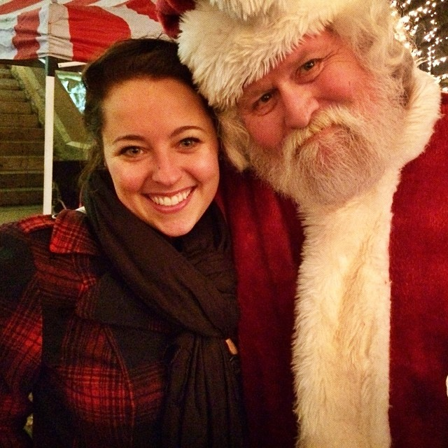 We got in pretty close with Santa. Close enough to smell that his hot cocoa was definitely not 100% cocoa.