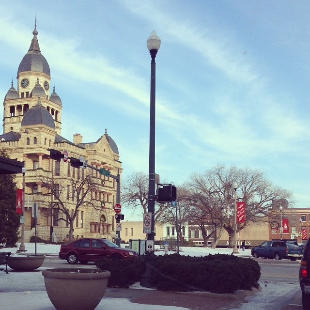 Post ice storm, many schools were closed until Wednesday or Thursday, but that didn't keep Dentonites from getting out and about when the sun came out. Here's a lovely photo of the courthouse by  Raechel Haley.